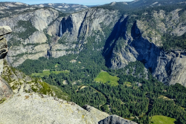 The Yosemite Valley as seen from Glacier Point.