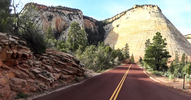 Zion National Park Drive Thru Video