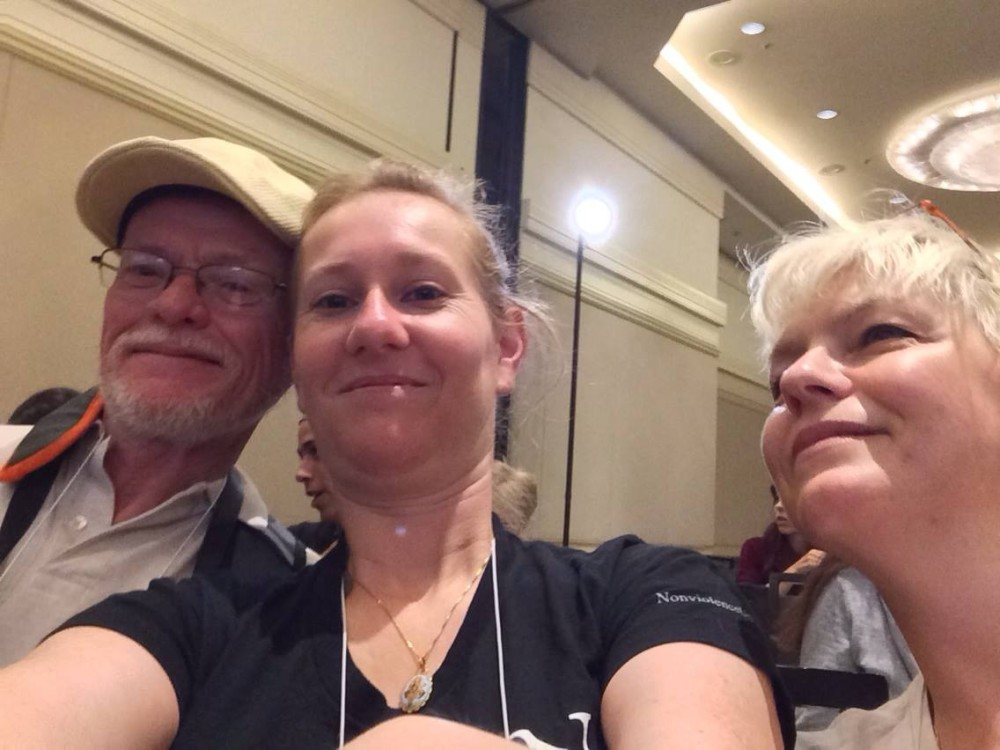 veronique-debbie-and-me-national-animal-rights-conference-2014